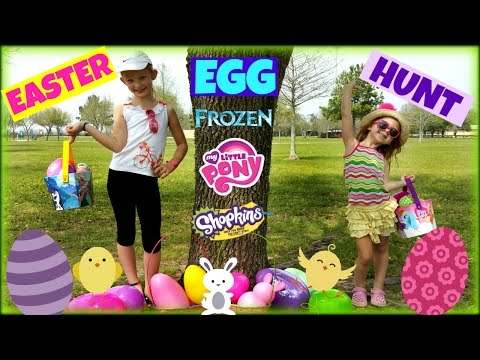 GIANT EASTER EGG HUNT Surprise Toys Shopkins Surprise Eggs Frozen Surprise Eggs My Little Pony Toys