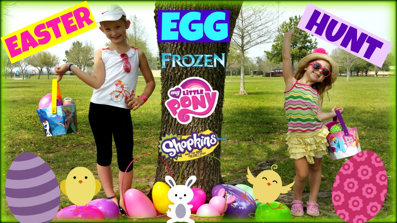 Giant Easter Egg Hunt Surprise Toys Shopkins Surprise Eggs