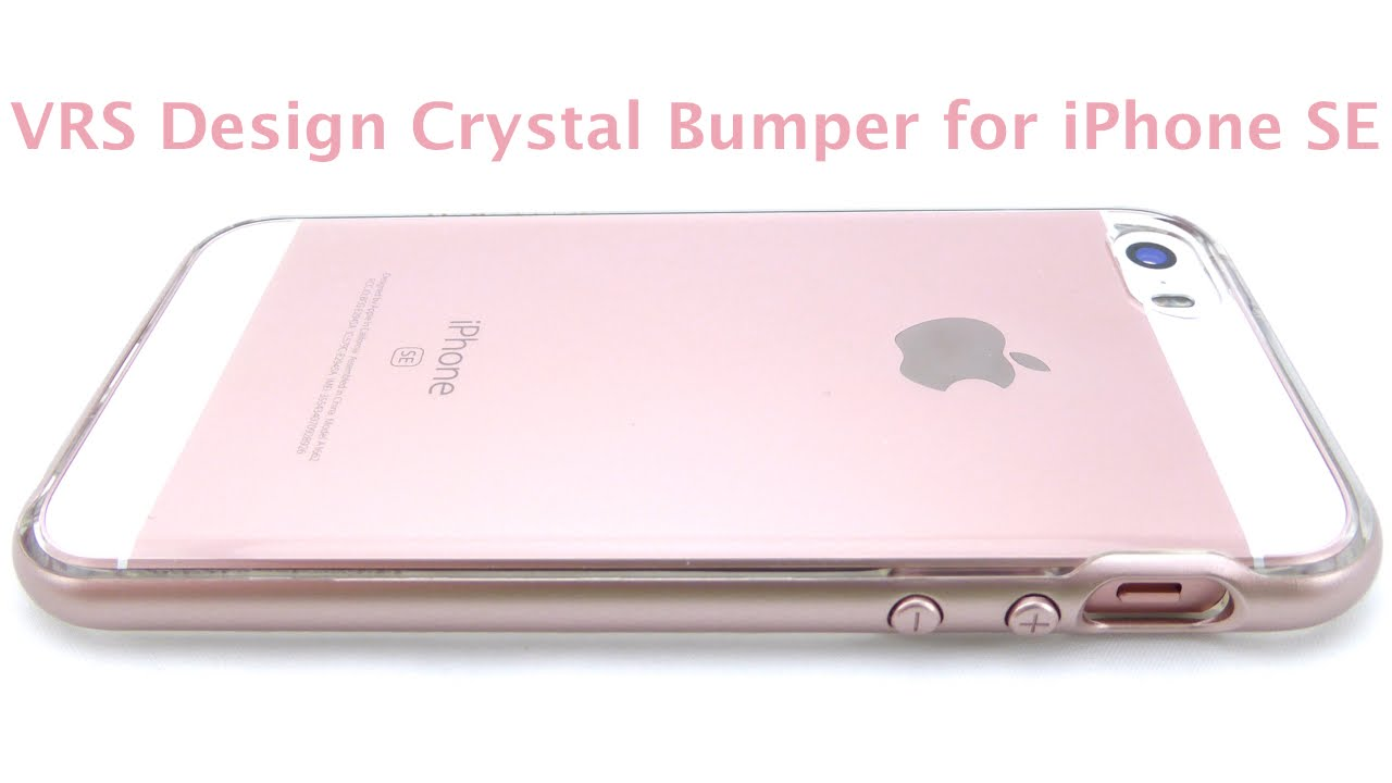 the best attitude 89360 1d1bc Show off your Rose Gold iPhone SE with the Crystal Bumper by VRS Design!
