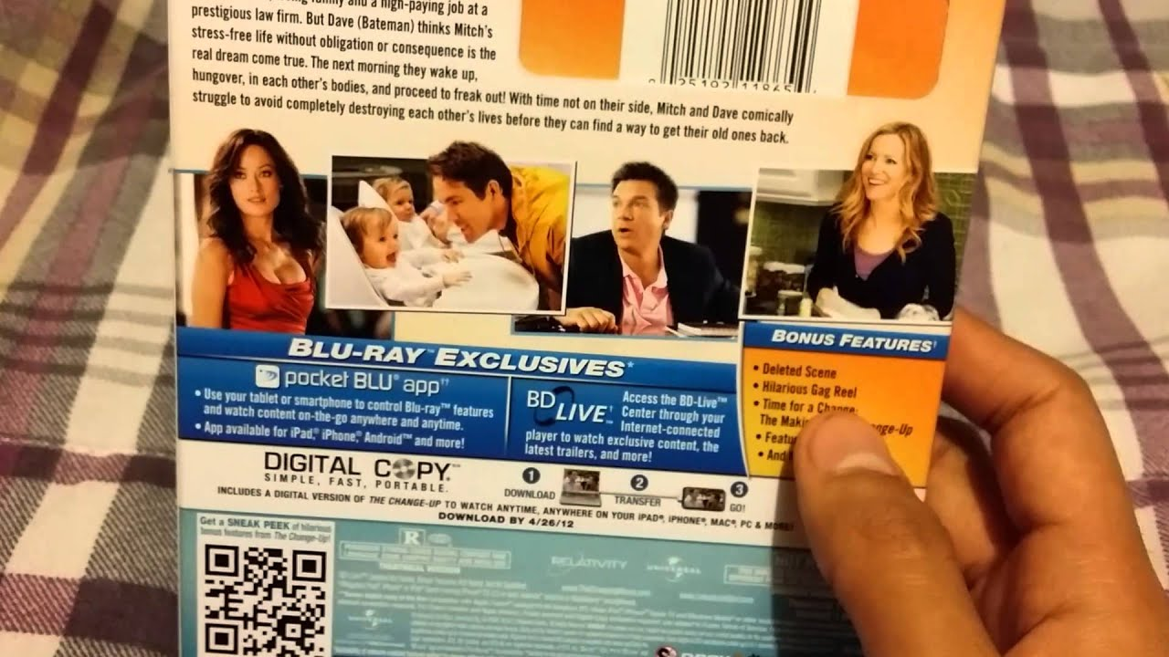 The Change Up Unrated Blu Ray Unboxing