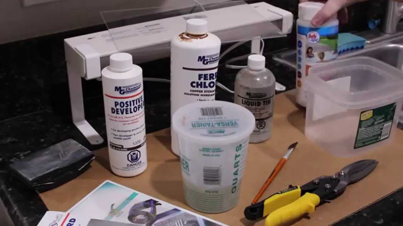 Circuit Board Prototyping Part 1 Exposing Developing Etching And A Tin Plating Pcb Youtube