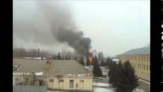 Пожар в в/ч 5204 в Заводском районе Саратова(Полное видео тут ..., 2016-02-11T13:20:41.000Z)