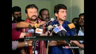 Sabarimala News : Actor Jayaram and Kalidasan visit Sabarimala