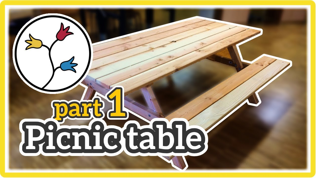 PICNIC TABLE DIY Howto Part Of YouTube - 2 in 1 picnic table bench plans