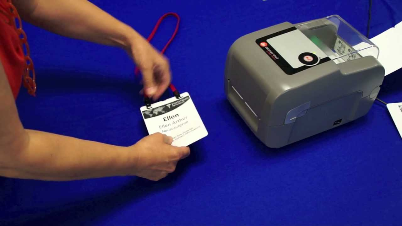 Pcnametag Presents The Datamax Name Tag Printer Updated YouTube - Name badge printer