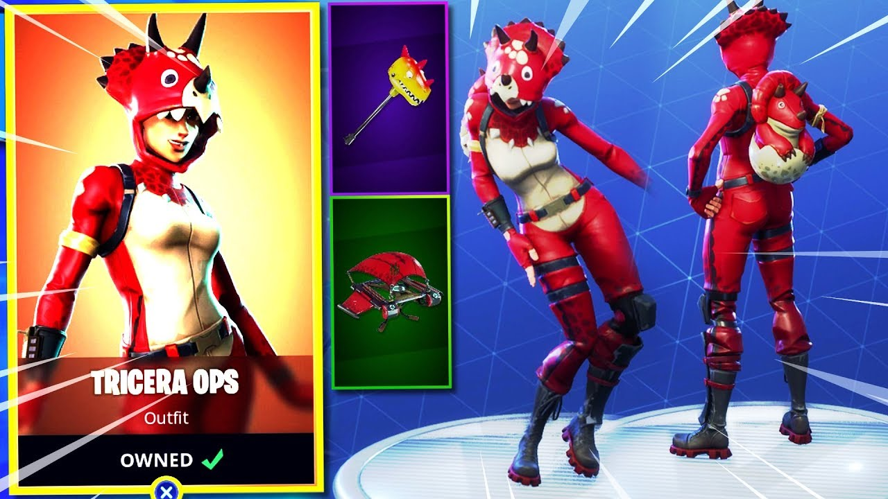 How To Draw Fortnite Tricera Ops