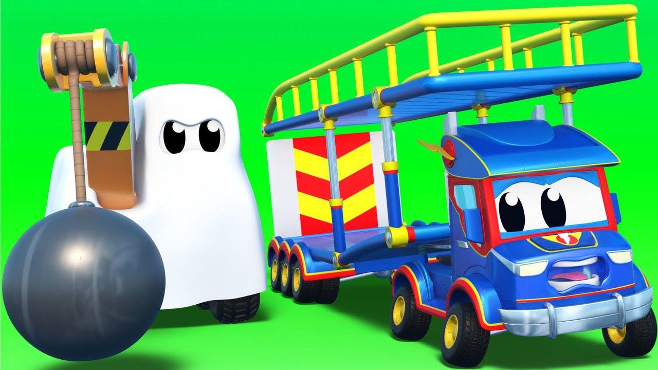 HALLOWEEN: Der Abrisskran ist ein Geist.  | Super Truck | Car City World App
