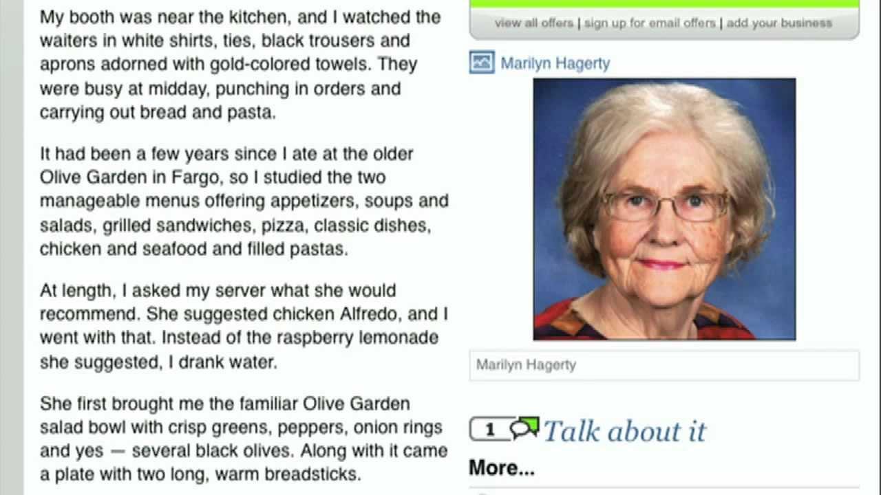 ian mckellen reads grand forks olive garden review - Olive Garden Review