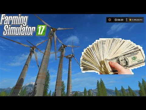 Farming Simulator 17 | EASY EARN MONEY with WIND TRIBUNE | Forestry and Farming on Goldcrest Valley