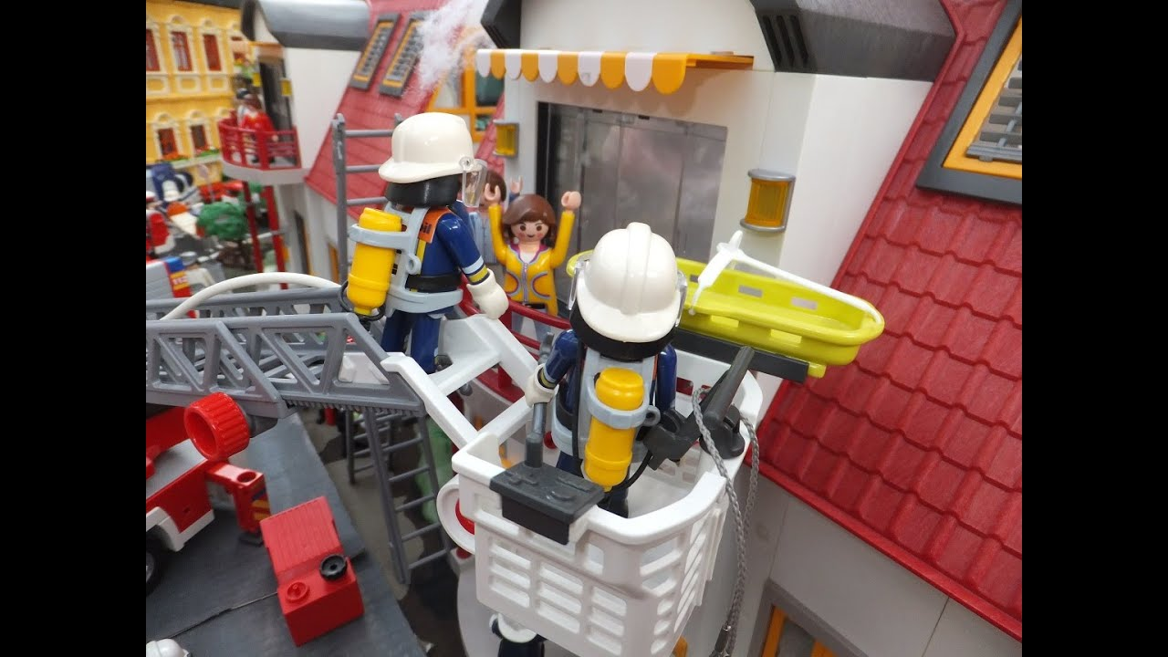 playmobil city action rescue feuerwehr diorama thw. Black Bedroom Furniture Sets. Home Design Ideas