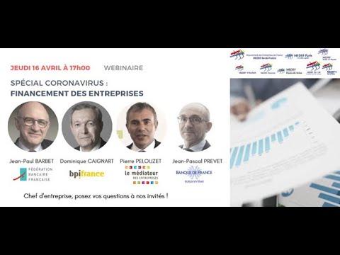 Spécial Coronavirus   Financement des entreprises