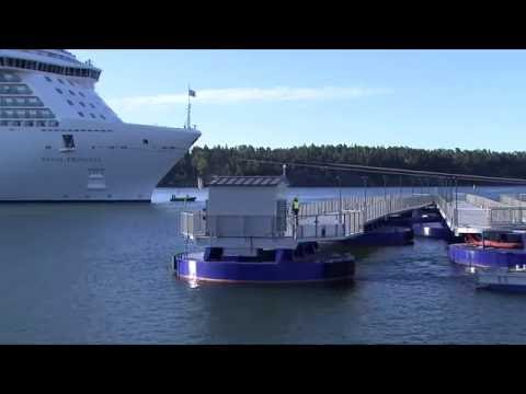 Seawalk - Ports of Stockholm's extendable pier