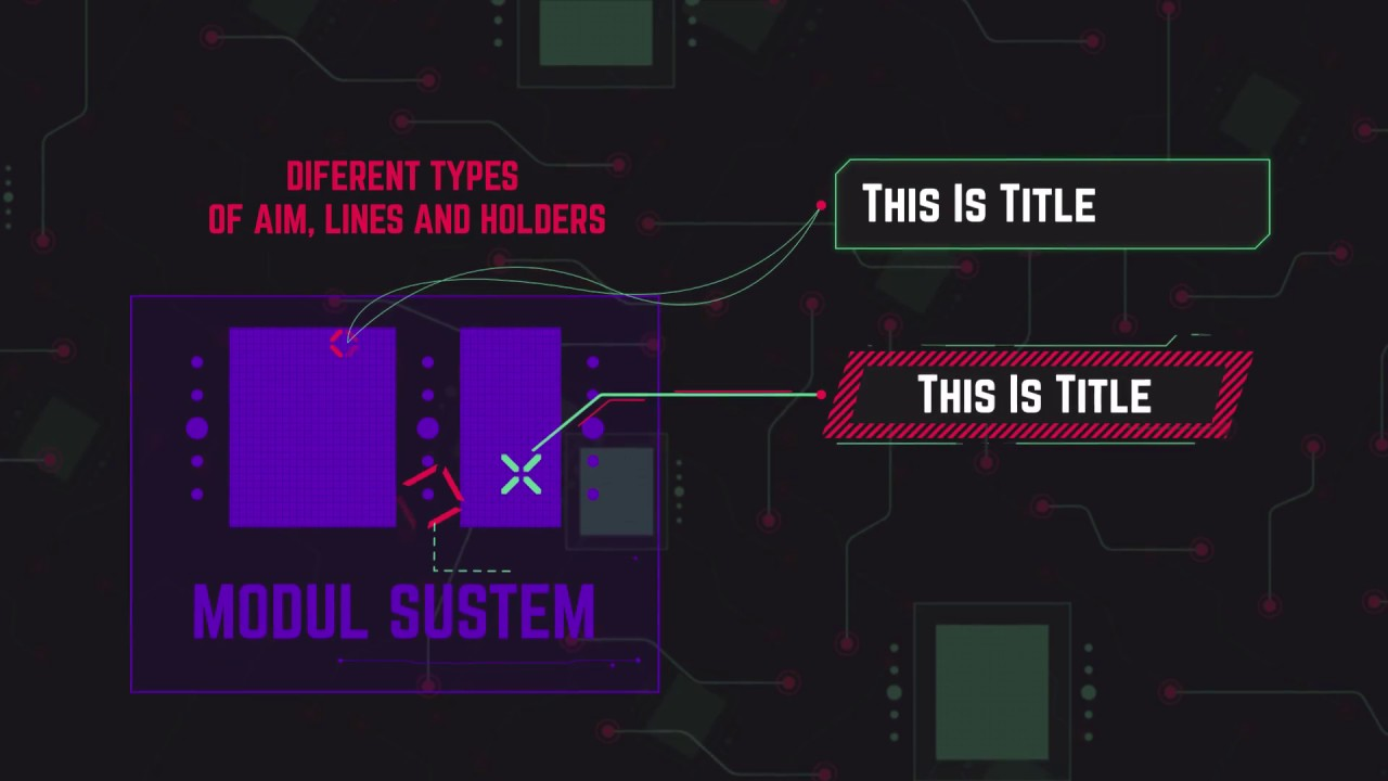 Cybertech hud infographic pack after effects template
