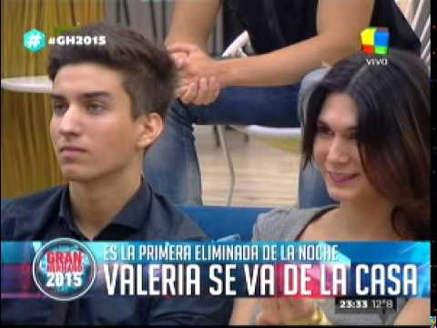 """""""Gran hermano 2015"""": Valeria fue la primera participante de la noche en abandonar La Casa"""