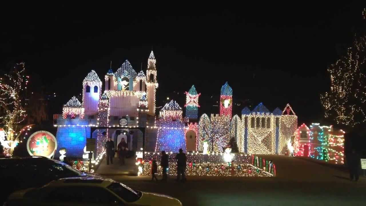 Beautiful Kuhns Awesome Christmas Lights In St. George 2013 With Snow Whites Castle. Home Design Ideas