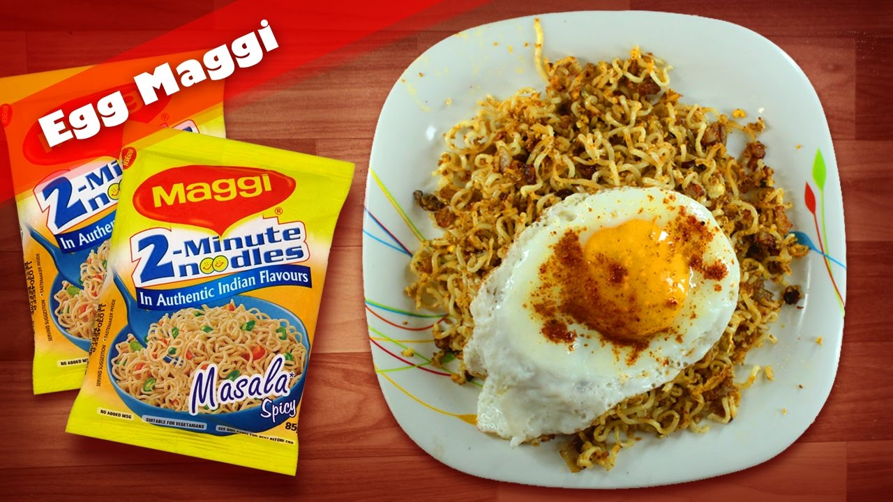 how to make maggi with scrambled eggs