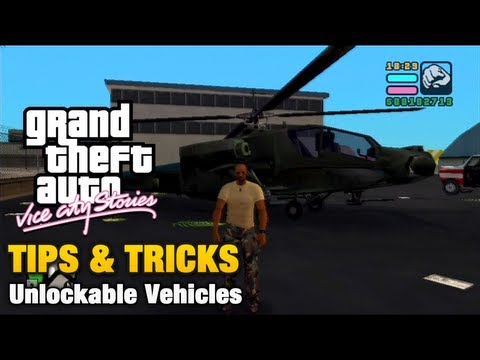 Gta Vice City Stories Tips Tricks Unlockable Vehicles Youtube