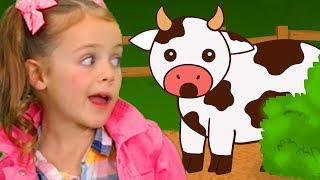 Learn Animal Sounds | Moo Cow Song | Learn Animals