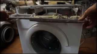 Как снять блок управления стираьной машины Бош. Видео №19(Как снять переднюю панель стиральной машины Бош. Из цикла самостоятельный ремонт стиральных машин. Группа..., 2015-02-09T11:11:50.000Z)