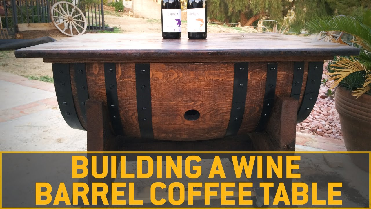 How To Build A Wine Barrel Coffee Table - YouTube