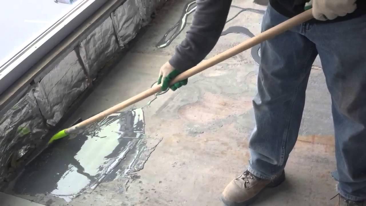 Rezi Weld Epoxy : Spreading wr meadows rezi weld epoxy youtube