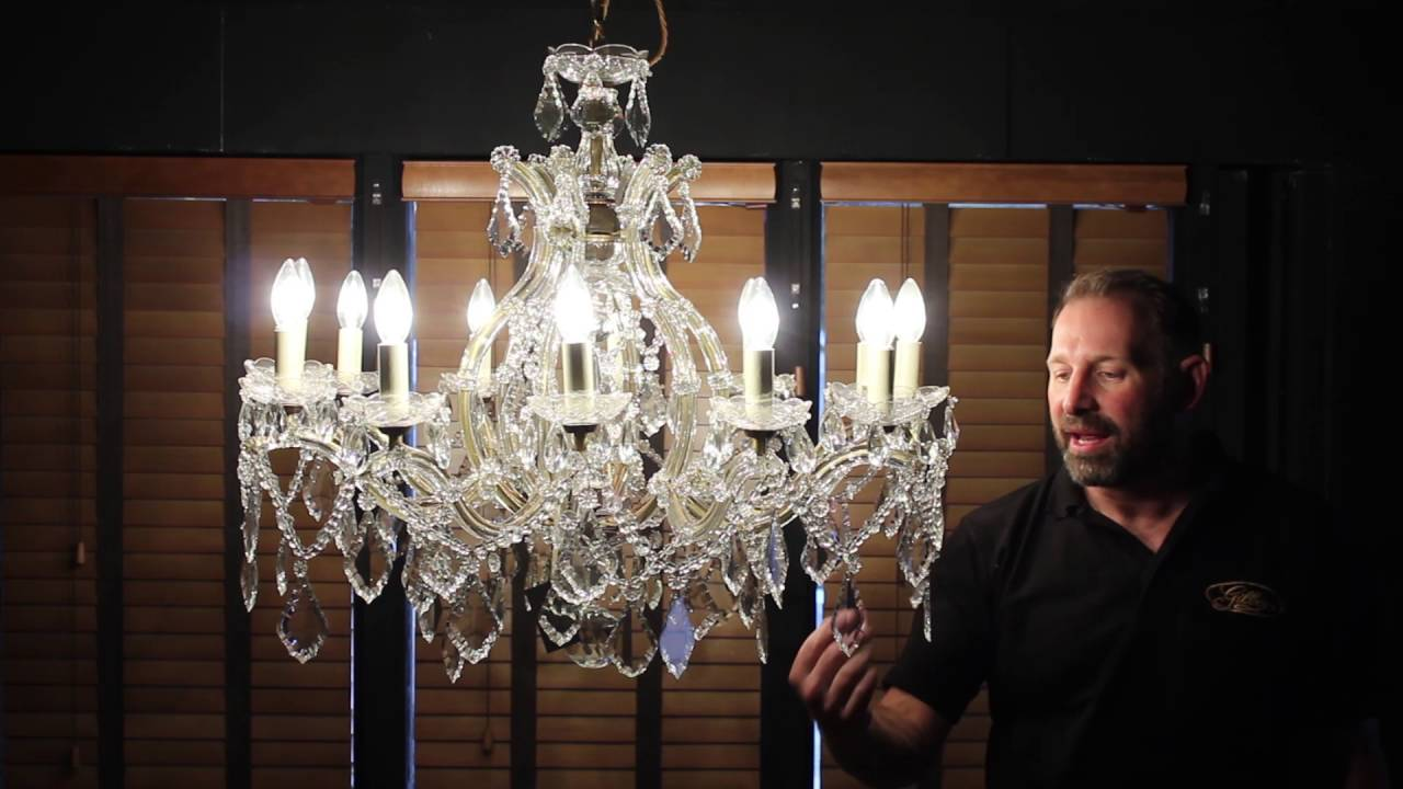 12 Lamp Marie Therese Room Filling Glass Clad Chandelier