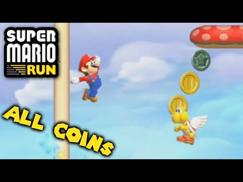 Super Mario Run - All Pink, Purple & Black Coins in World 1 (Android)