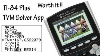 How to use the TVM Solver TI-84 (Time Value Money)
