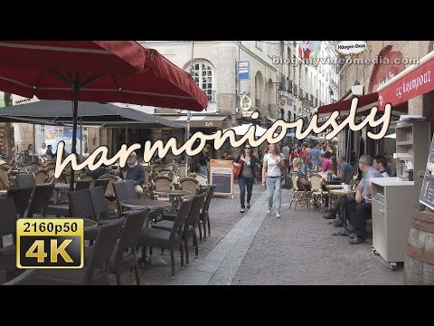 Nantes, Morning Walk through Old City - France 4K Travel Channel
