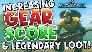 How To Increase Gęar Score To Get Legendary Loot! New World Gear Score & High Water Mark Explained!