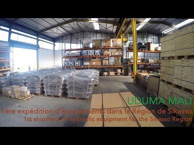Expédition des 1ers équipements hydrauliques destinés à la Région de Sikasso (Mali)