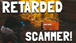 RETARDED Scammer gets Scammed in fortnite save the world pve