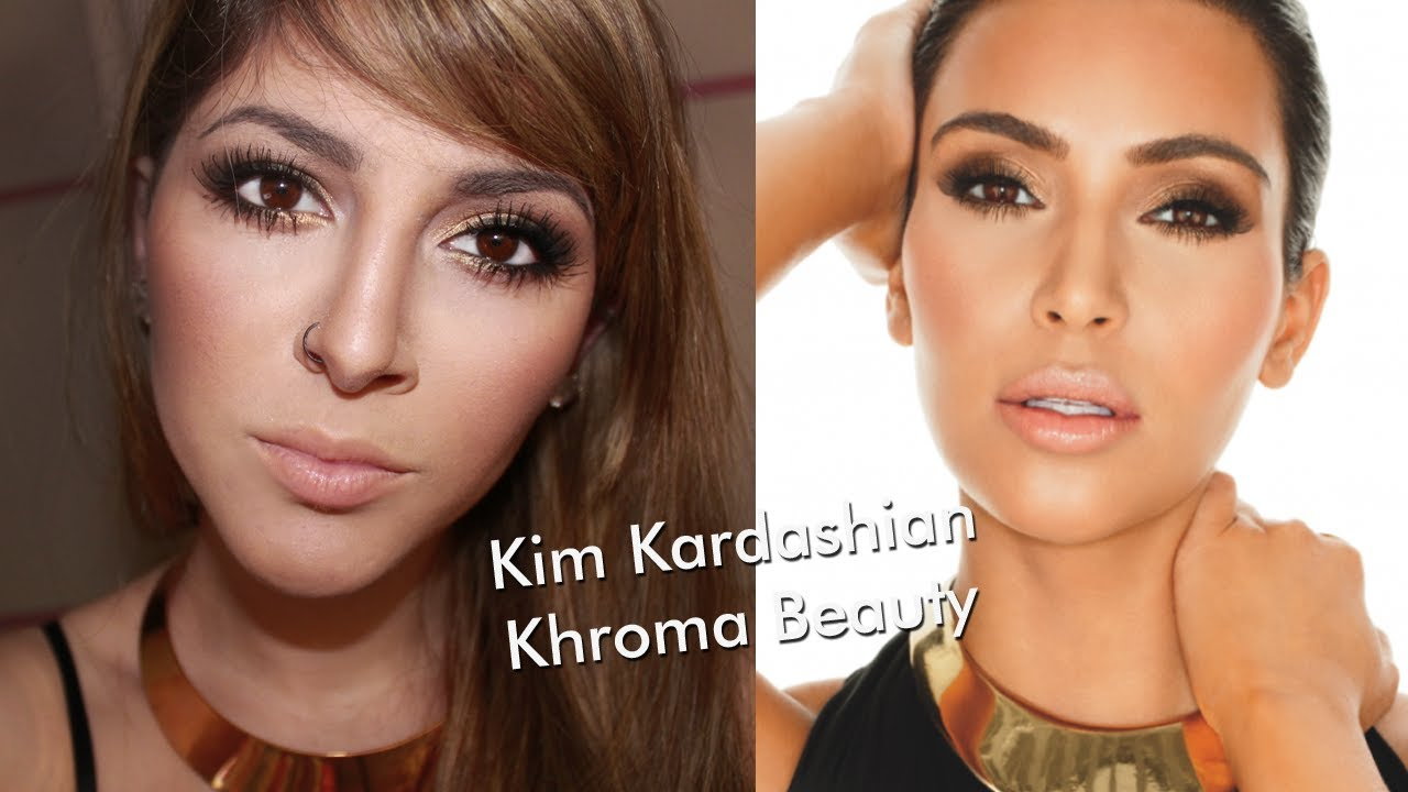 Makeup Tutorial Inspired Kim Kardashian Khroma Beauty Youtube