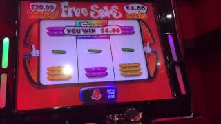 Free Spins Bonus on High 5 £500 Fruit Machine