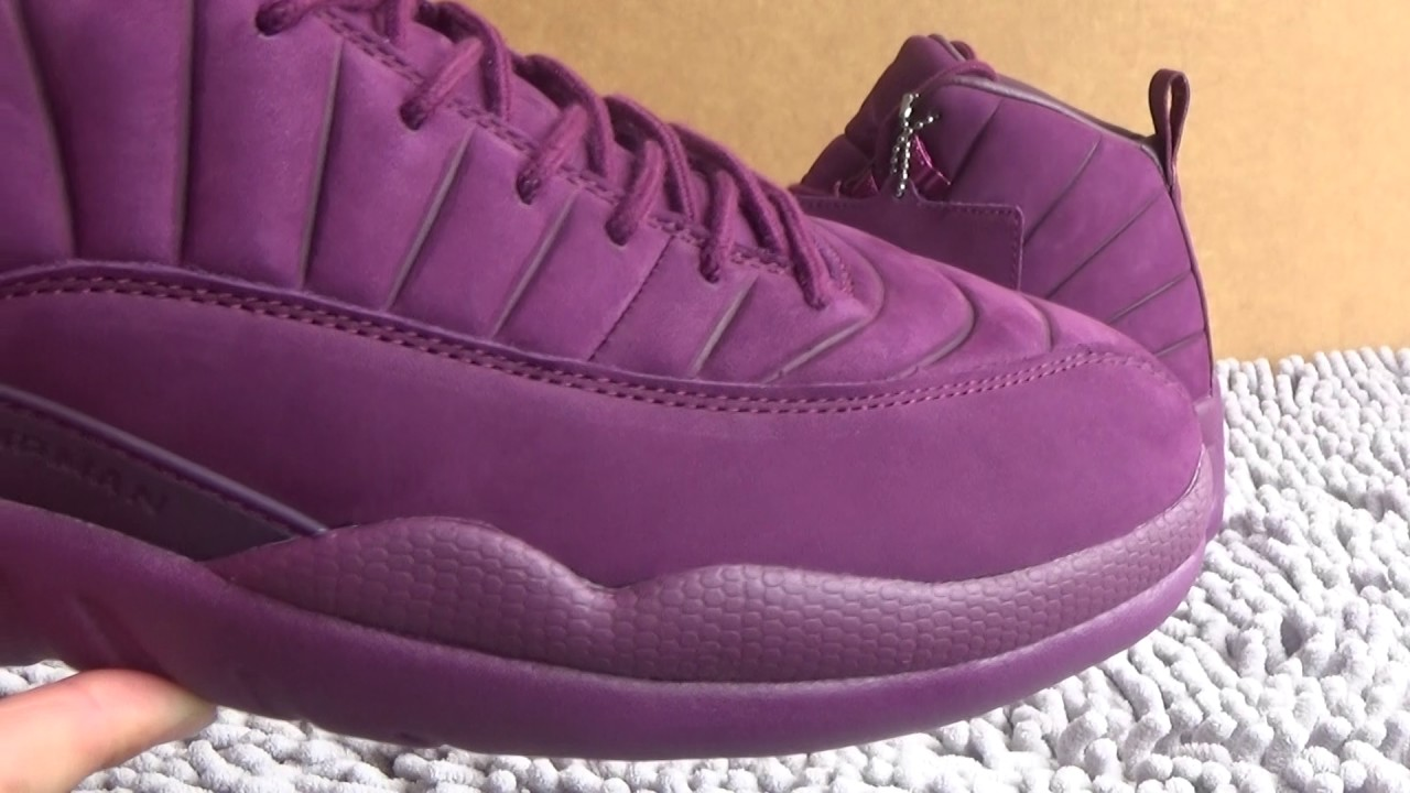 "415002d00702 Authentic AJ12 PSNY x Air Jordan 12 ""Burgundy"" Review from www.shopajsole.ru"