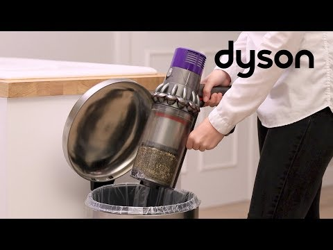 Dyson Cyclone V10 cord-free vacuums - Emptying and cleaning the clear bin