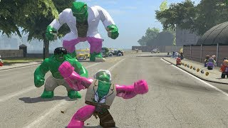 Hulk vs Big Lizard Vs Pink Stanlee(Transformation) - LEGO Marvel Super Heroes Games