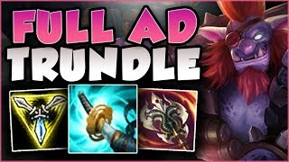 WHY IS NO ONE ABUSING THIS? BUFFED FULL AD TRUNDLE IS 100% BUSTED! TRUNDLE TOP - League of Legends