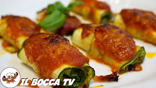 595 - Involtini di zucchine..ricettina sopraffine (secondo/contorno estivo facile veloce e sfizioso)
