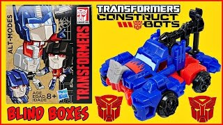 TRANSFORMERS NEW BLIND BOXES and CONSTRUCT BOTS Optimus Prime Toy Opening