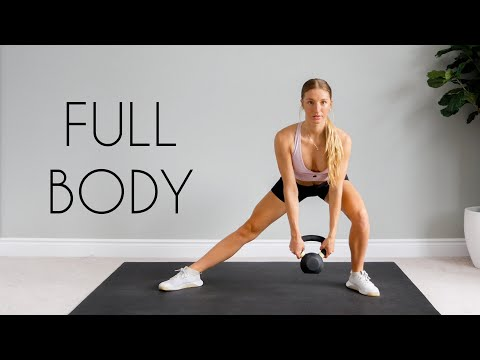 15 min FULL BODY Kettlebell Shred Workout (At Home)