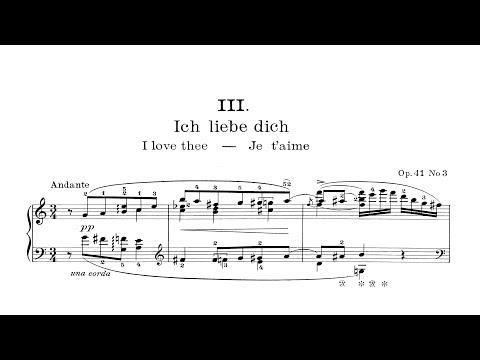 Edvard Grieg: Ich Liebe Dich (Je T'aime) Op.41, No.3 (audio + Sheet Music) [Thurzó]
