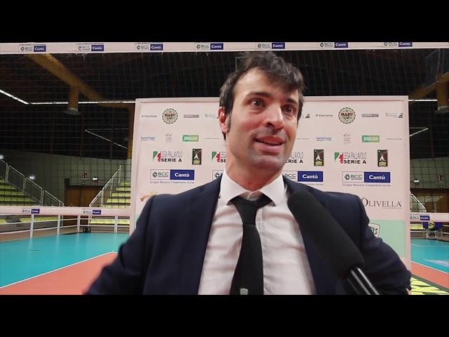 Volley A2M Coach Battoccio dopo la sfida contro Bergamo