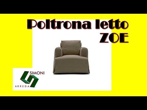 Poltrona con letto singolo modello zoe youtube for Simoni arreda milano