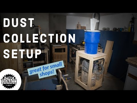 Dust Collection System Shop Build //  Storage Cart & Dust Deputy Separator Assembly
