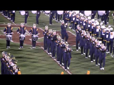 Notre Dame Band plays the Victory March at OU-Notre Dame 10/27/12