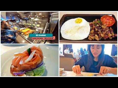 NCL Breakfast (Buffet, Local, MDR) 100+ Items with Menus on Norwegian Joy