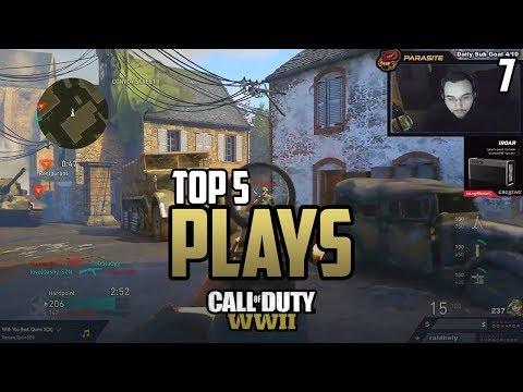 Parasite DESTROYS Killa's Team! - COD WWII: TOP 5 PRO PLAYS #7 - Call of Duty World War 2