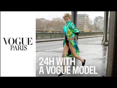 24 hours with a Vogue model in Paris - by Loic Prigent for Vogue Paris & Nike Cortez