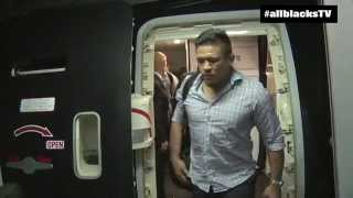 All Blacks arrive in Chicago